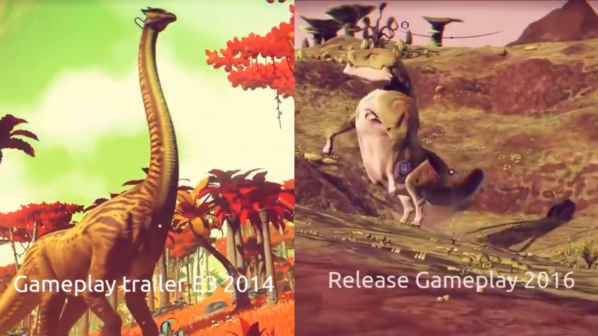 No mans sky screen trailer and real gameplay comparison